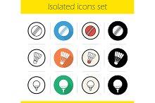 Sport balls. 12 icons. Vector