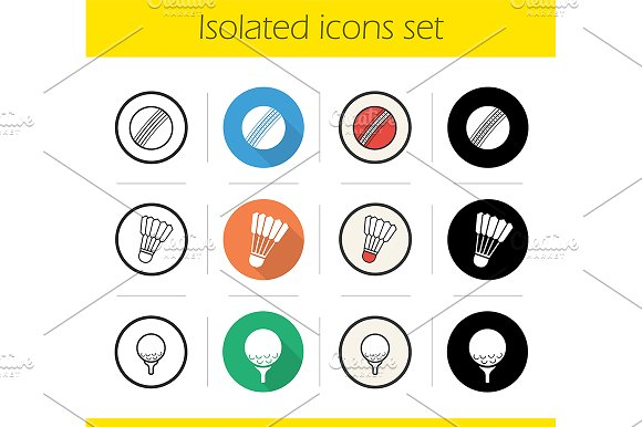 Sport balls. 12 icons. Vector - Icons