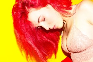 girl with red fire hair