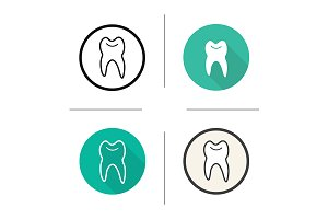 Tooth. 4 icons. Vector