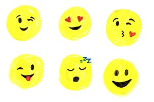 Watercolor Emoji