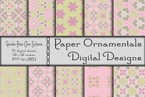 Digital Paper, Garden Posie
