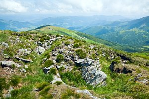 Summer Carpathian mountain, Ukraine