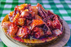 Octopus galician style pulpo gallega