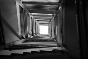 Abstract Stairs Perspective
