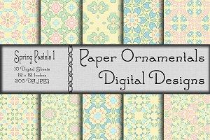 Digital Paper, Spring Pastels 1