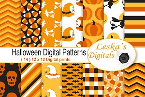 Halloween Patterns - Digital Paper