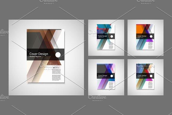 Vector Brochure Flyer design. Vol.6 - Brochures