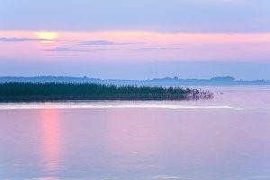 Lake sunset view, Ukraine