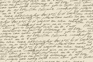 Illegible handwriting seamless
