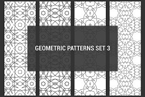 Geometric seamless patterns set 3