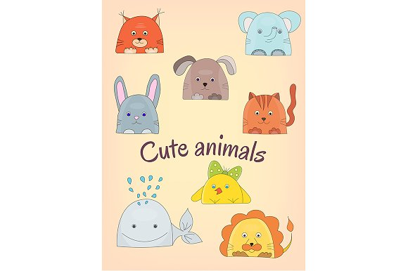Cute animals collection in Illustrations