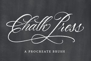 Chalk Press Procreate Brush
