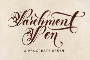 Parchment Pen Procreate Brush