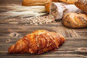 Fresh croissant