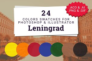 "24 Colors Swatches ""Leningrad"""