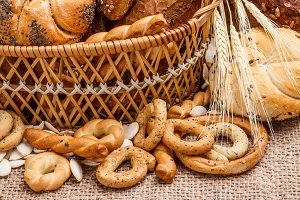 Various breads in basket