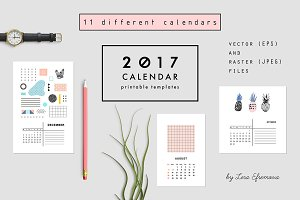 2017 CALENDARS | raster & vector