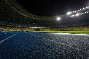 Evening stadium