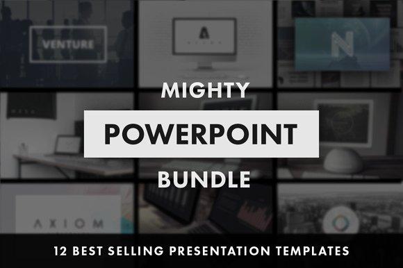 mighty powerpoint bundle presentation templates creative market
