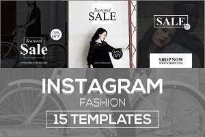 15 Instagram Templates v.10: Fashion