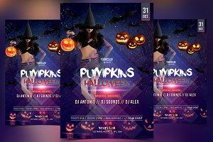 Pumpkins Halloween - PSD Flyer