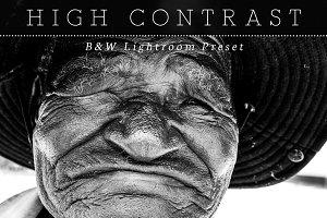High Contrast B&W Lightroom Preset