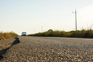 Rough asphalt