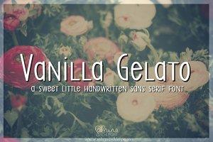 Vanilla Gelato- Handwritten Font