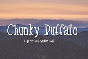 Chunky Buffalo- Handwritten Font