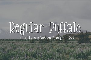 Regular Buffalo- Handwritten Font