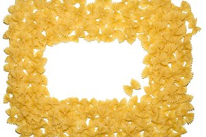 Pasta on a wihite background