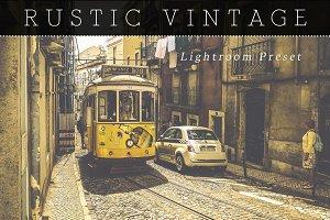Rustic Vintage Lightroom Preset