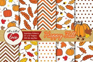 Autumn Seamless Background Fall
