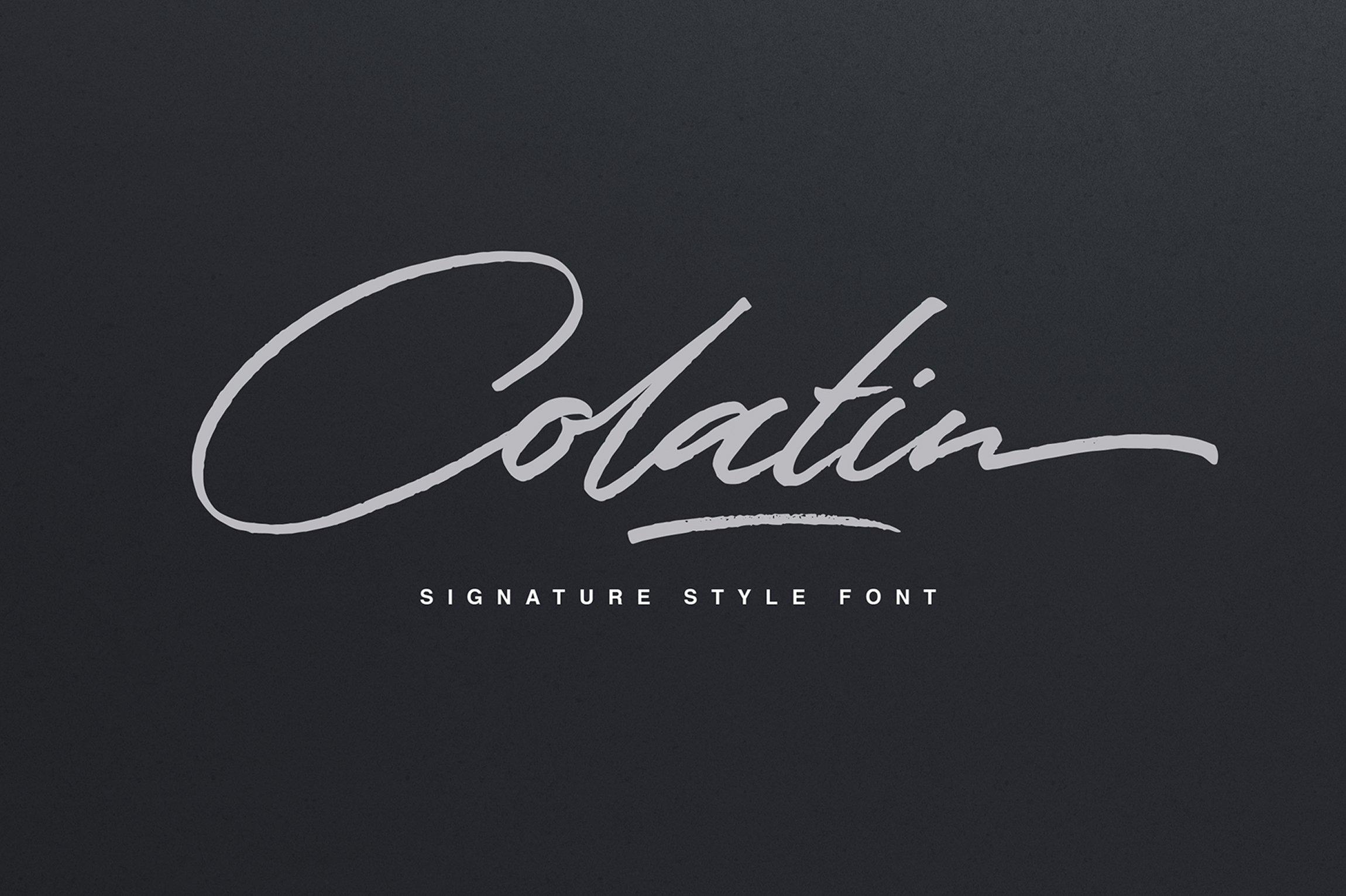 Colatin script fonts creative market