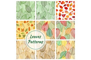 Autumnal seamles patterns