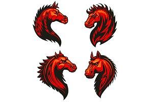 Fire horse mascots