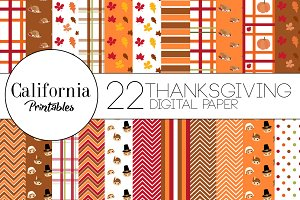 Thanksgiving Digital Paper