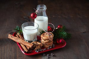 Cookies & Milk. Christmas