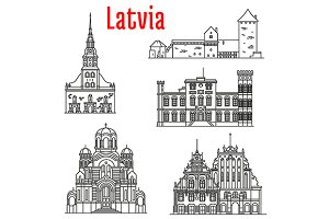 Historic landmarks of Latvia