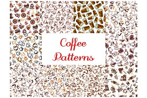 Coffee seamless pattern backgrounds
