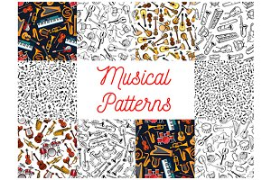 Musical instruments, notes patterns