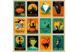 Posters and cards for Halloween
