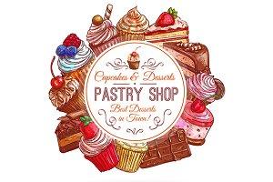 Pastry shop emblem