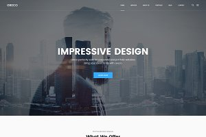 Greco - Business PSD Template