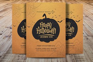Vintage Halloween Party Flyer V5