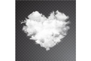 Realistic vector cloud heart