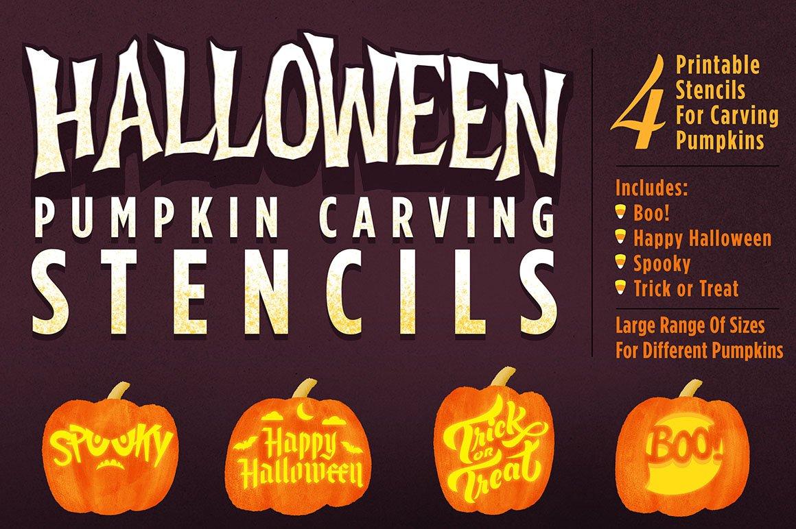 Halloween Pumpkin Carving Stencils ~ Illustrations ~ Creative Market