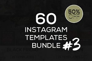 60 Instagram Templates Bundle #3