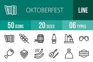 50 Oktoberfest Line Icons